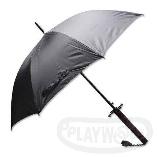 【Playwoods】[雨傘]新月 造型傘 黑柄黑身Umbrella(黑崎一護-新天鎖斬月-最強形態-斬魄刀-死神-日本刀-武士刀-寶刀-武士道-火影忍者-海賊-卍解-萬解-月牙天衝-兵器-忍者/萬聖節/COSPLAY)