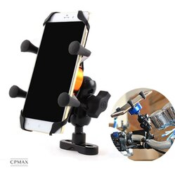 CPMAX 鋁合金鷹爪手機支架 防水超強力! 手機架 機車手機架 手機支架 X型手機架 機車導航架 後照鏡支架【O03】