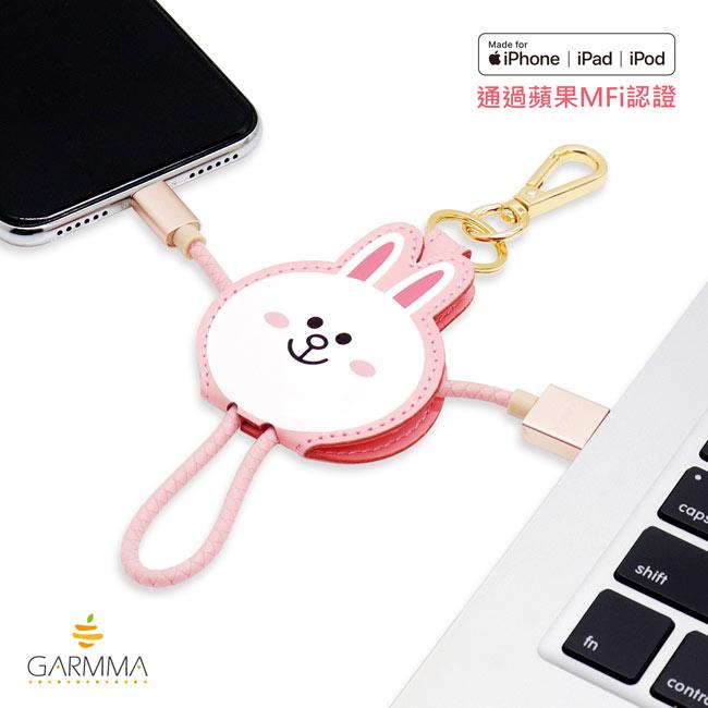 GARMMA LINE Friends Apple Lightning皮革吊飾傳輸線(熊大 / 兔兔 / Kitty / 熊美) 0