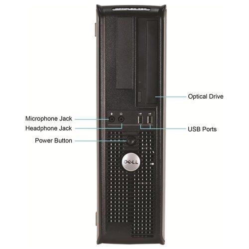Dell OptiPlex 760 Desktop Intel C2D-3.16GHz, 4GB RAM, 1TB HDD, DVDRW, Win 10 Pro (64-bit) 1