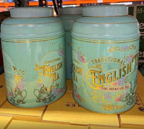 [COSCO代購] C129275 NEW ENGLISH BREAKFAST TEA 早餐茶茶包 每包2公克 每罐240包