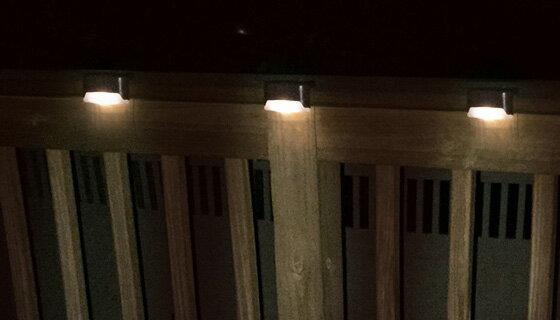 Solar Deck Lights - Two Set of Three 2