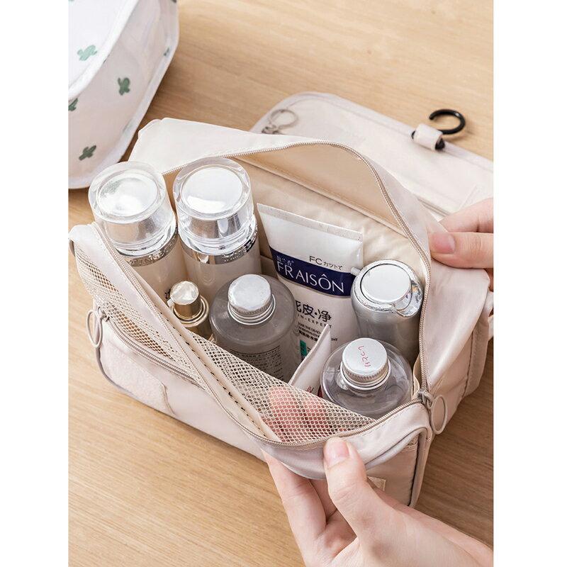 台灣現貨 旅行化妝包 大容量 收納包 收納袋 出國旅行包 拉鏈3C手機耳機用品收納袋多功能女生 保養品小包 7