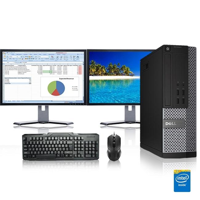 Refurbished - Dell Optiplex Desktop Computer 2 6 GHz Core 2 Quad Tower PC,  4GB, 250GB HDD, Windows 10 x64, 20