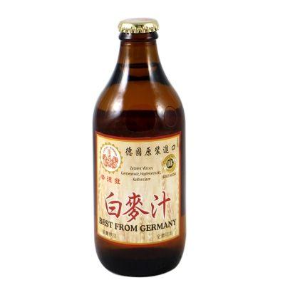 崇德發 天然白麥汁 玻璃瓶 330mlx6瓶
