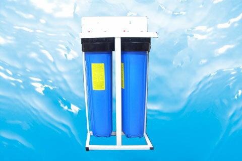 腳架式水塔濾水器:大胖20英吋2道式、透明濾殼《ISO認證工廠生產》3100元
