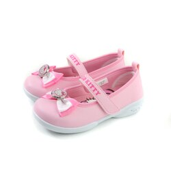 Hello Kitty 凱蒂貓 娃娃鞋 皮質 粉紅色 中童 童鞋 718742 no774