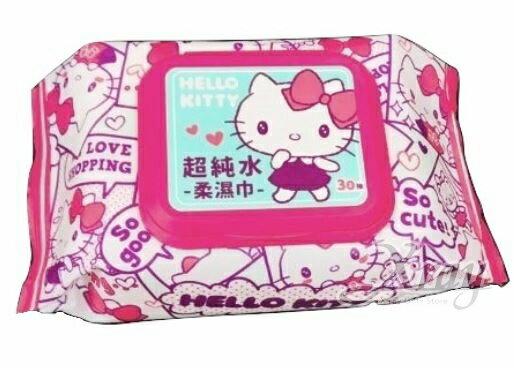 Hello Kitty 30抽附蓋超純水柔濕巾,加蓋紙巾/嬰兒濕紙巾/溫濕紙巾/衛生紙/面紙/經期用濕紙巾/隨身包,X射線【C503724】