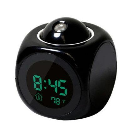 現貨預售2020新款智能家用多功能LED投影語音報時鐘電子鐘鬧鐘中英文創意 【歡慶新年】