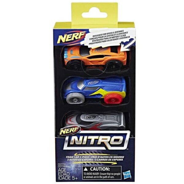 《 NERF 樂活打擊 》NERF NITRO 極限射擊賽車3入車輛組 Set3