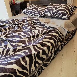 美麗大街【107041702】新款斑馬花紋床單大全套四件套組