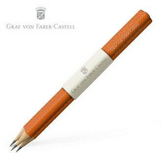 【Graf Von Faber-Castell】繩紋飾 紅柿子 V118625 鉛筆3支入 /組