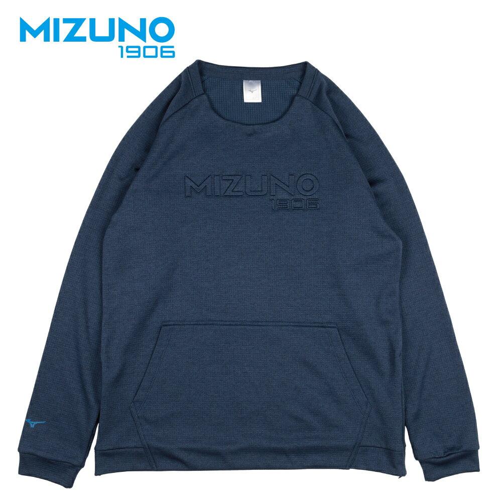 MIZUNO 1906 男款休閒長袖T恤 D2TA850313 (深丈青) 【美津濃MIZUNO】 - 限時優惠好康折扣