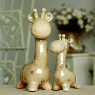 陶瓷工藝品* 長頸鹿*家居擺設