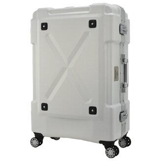日本 LEGEND WALKER 6302-62-26吋 鋁框密碼鎖輕量行李箱 白色