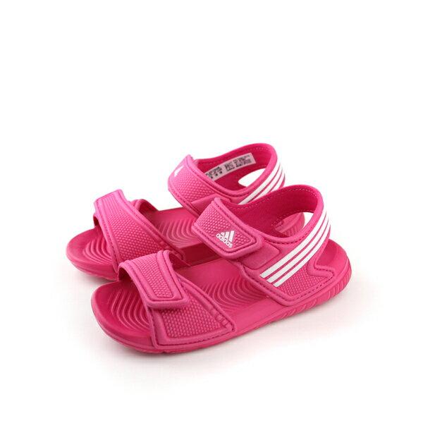 adidas 涼鞋 童鞋 桃紅色 小童 no322