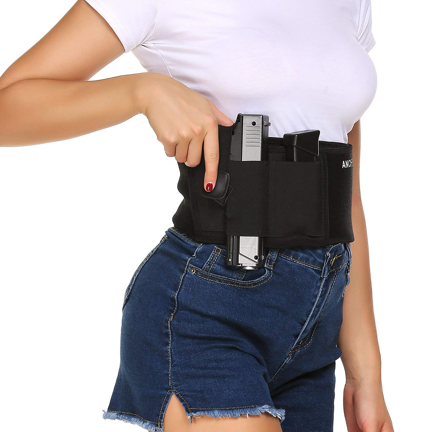 Belly Band Holster for Concealed Carry Waist Band Handgun Carrying System