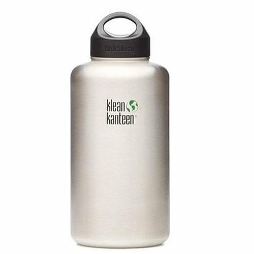 【【蘋果戶外】】Klean kanteen KKW64WSSL【寬口/64oz/1900ml】美國寬口不鏽鋼水瓶 登山水壺
