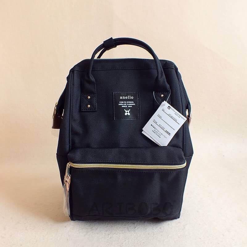 【日本anello】ANELLO 雙肩後背包 《大號》- 黑色 0