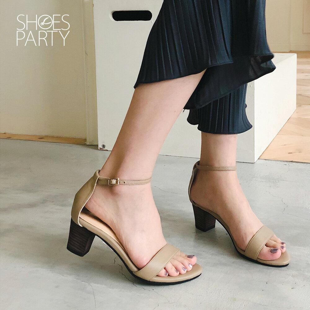 【S2-19402L】細一字帶中跟涼鞋_Shoes Party 2