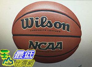 [COSCO代購 如果售完謹致歉意] W1163730 Wilson NCAA 室內外合成皮籃球 (7號)