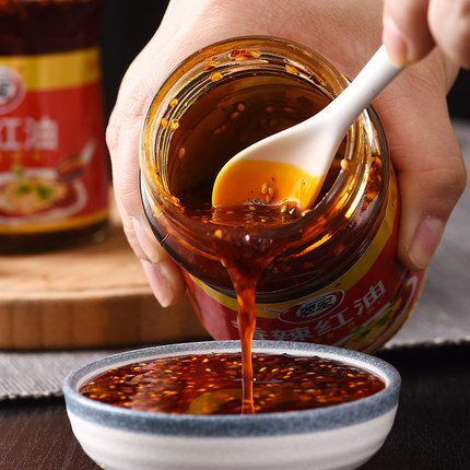 翠宏香辣紅油200g瓶裝四川特產辣椒油潑辣子小吃涼皮拌菜調味料