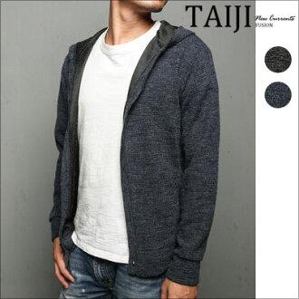 連帽外套‧素面鈕扣混色連帽外套‧二色【NQ887】-TAIJI
