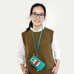 【瞎買天堂x創意設計】超可愛怪獸手機背袋 可掛脖子 可觸屏 手機包 兩種尺寸 iPhone6【SGBGAA03】