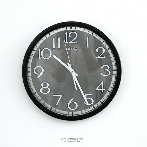時鐘SEIKO銀色金屬面板掛鐘柒彩年代【NG47】原廠公司貨