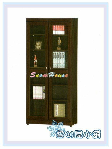 ╭☆雪之屋居家生活館☆╯AA553-12 F51全玻書櫃(黑胡桃)/置物櫃/收納櫃/展示櫃/胡桃書架/胡桃置物架