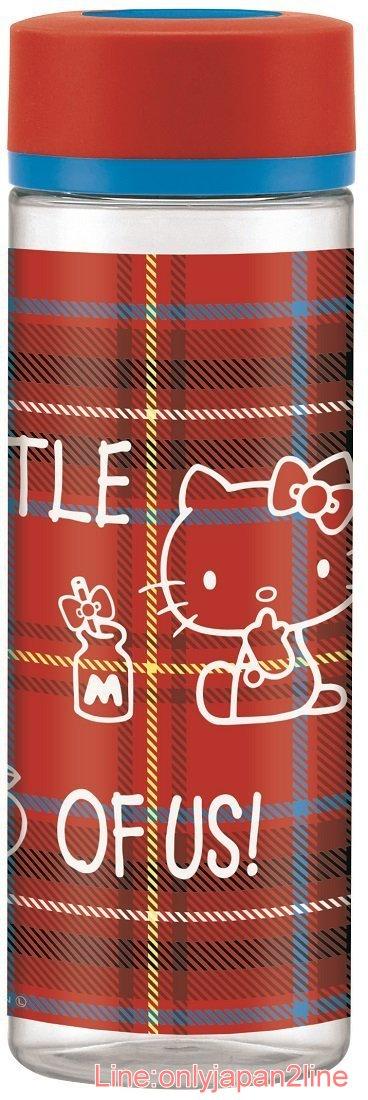 【真愛日本】17040100031 塑膠冷水壺-KT蘇格蘭紅 三麗鷗 Hello Kitty 凱蒂貓 水壺 茶壺 水瓶