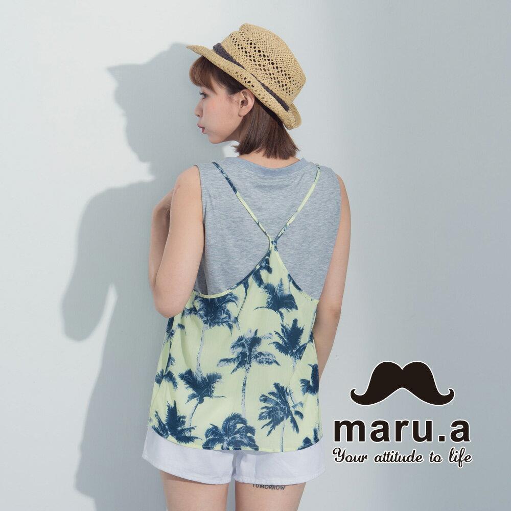 【maru.a】夏日椰子樹兩件式背心7323121 2