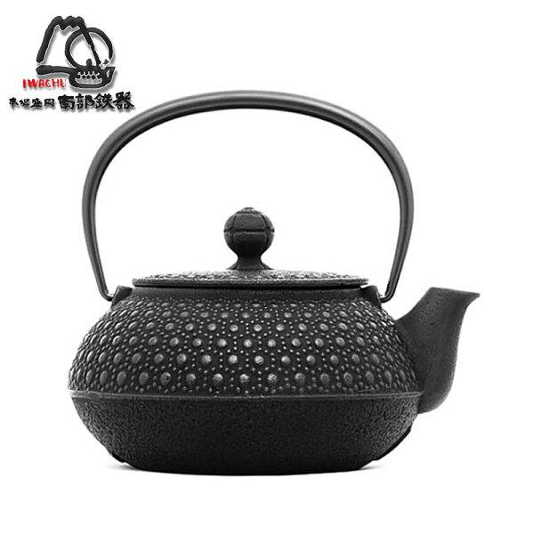 日本岩鑄南部鐵器急須龜甲5型鑄鐵壺茶壺-0.65L(12004)