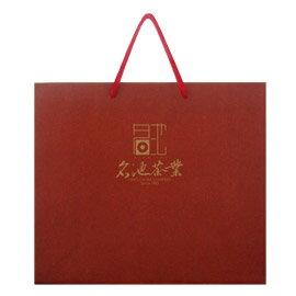 加購【名池茶業】茶葉禮盒手提袋(深紅款)
