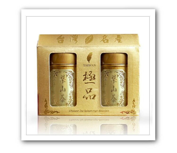 【名池茶業】梨山手採高山茶葉禮盒75公克x2-青茶(金選茗茶款)