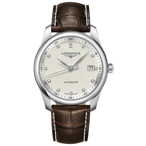 LONGINES浪琴表L27934773巨擘系列真鑽典雅多功能腕錶白網紋面40mm