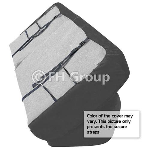 FH-FB050R010 Flat Cloth Car Seat Covers -  bench seat 1