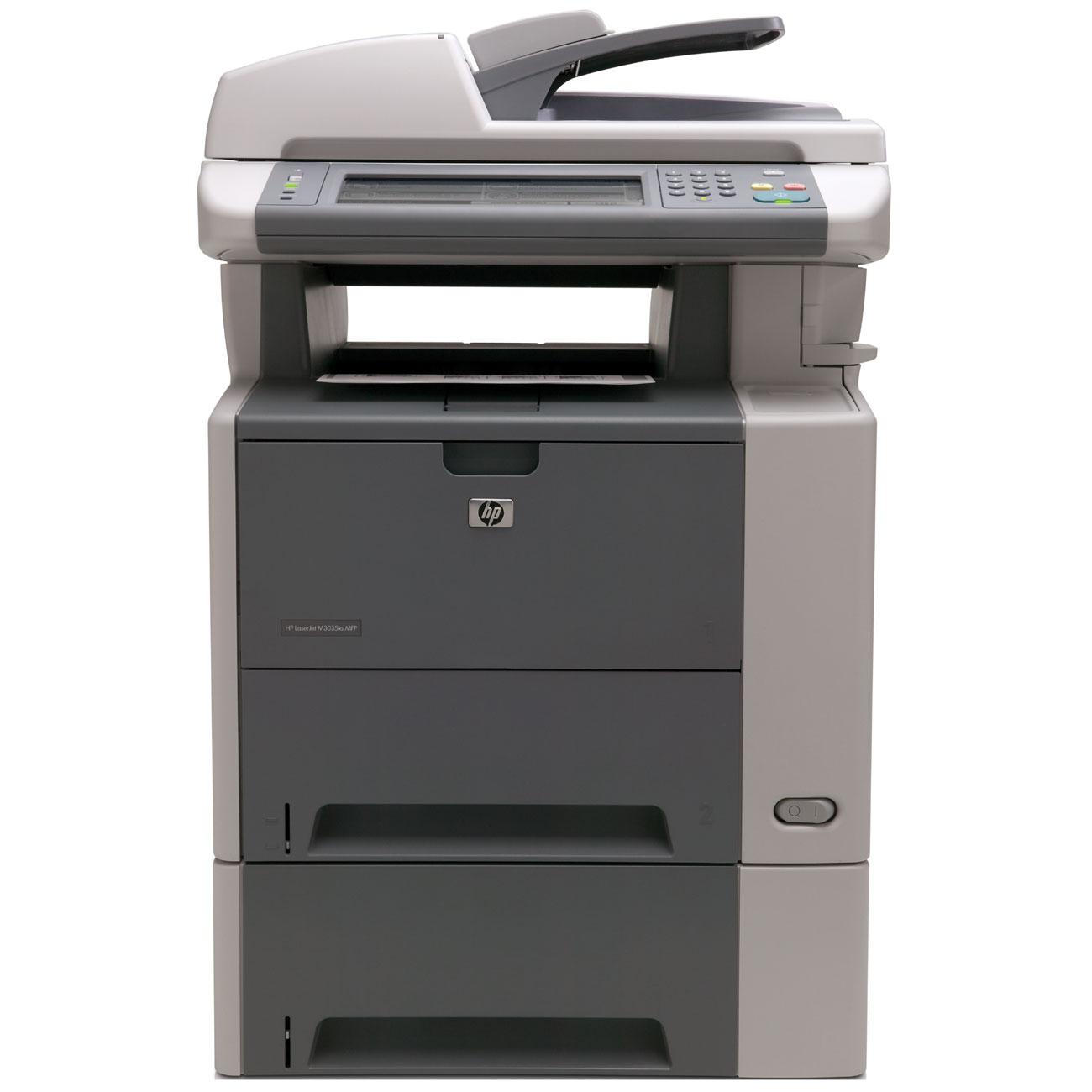 HP LaserJet M3035XS Laser Multifunction Printer - Monochrome - Plain Paper Print - Floor Standing - Copier/Fax/Printer/Scanner - 35 ppm Mono Print - 1200 x 1200 dpi Print - Automatic Duplex Print - 35 cpm Mono Copy - 1 x Input Tray 500 Sheet, 1 x Multipur 0