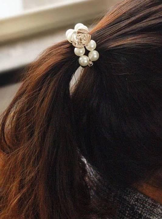 韓版珍珠髮圈 (5入)