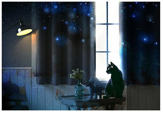 【巴芙洛】棉麻鏤空星星-遮光窗簾-兩款顏色 9