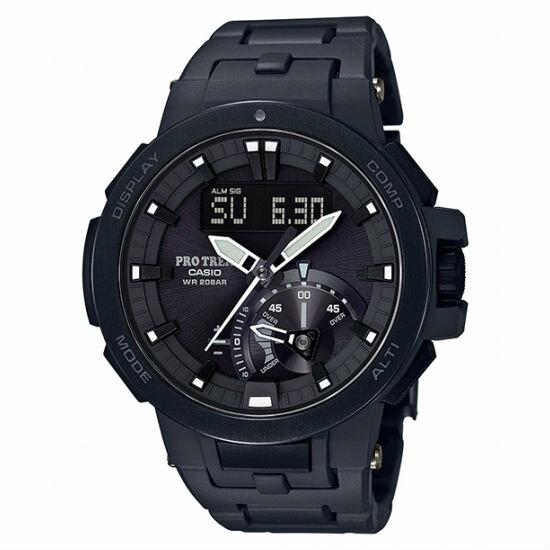 CASIOPROTREKPRW-7000FC-1B多功能高階登山雙顯電波腕錶52mm