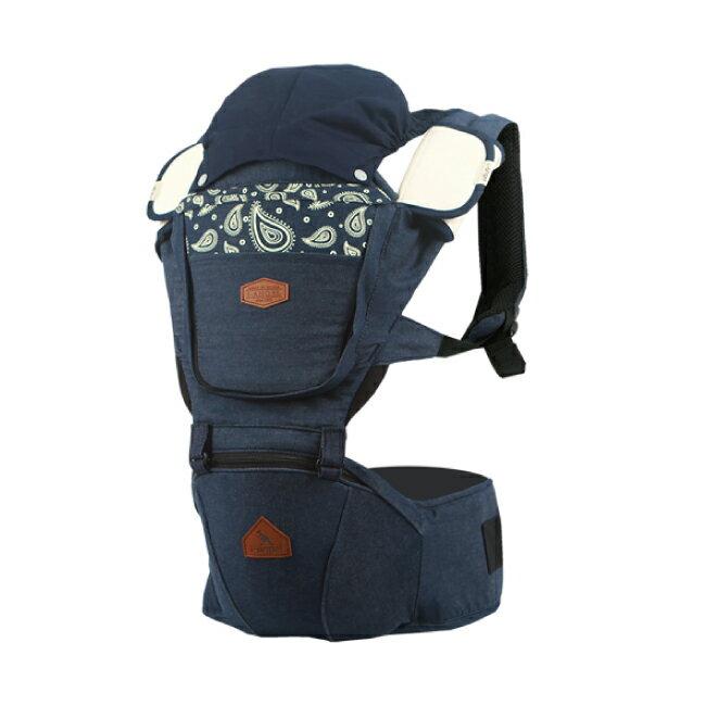 i-angel DENIM 丹寧系列 座椅式背帶/坐墊式背帶/揹巾-佩利茲白(總代理公司貨)