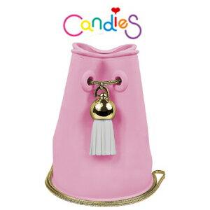 FENICE:【Candies】流蘇水桶包長鏈(桃粉)