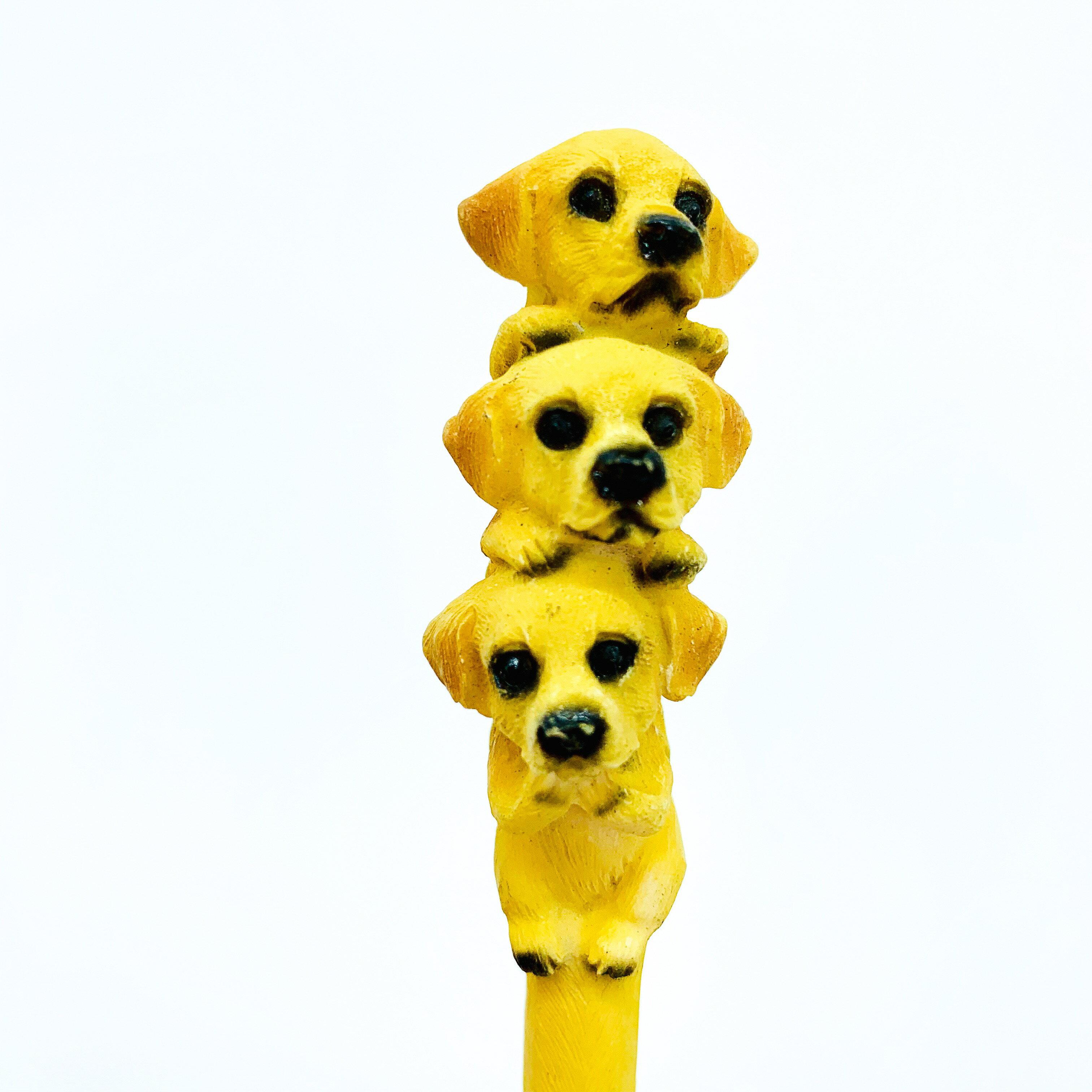日本高山 擺飾 動物 筆 狗 兔 青蛙 猴 13款 可換筆心 塑陶 日本直送 日本設計 值得收藏 1