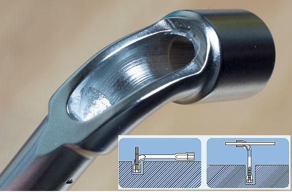 *韋恩工具* AOK 17MM 煙斗板手 彎式套筒 L型板手 90度 套筒板手 梅花板手 6角 12角雙用