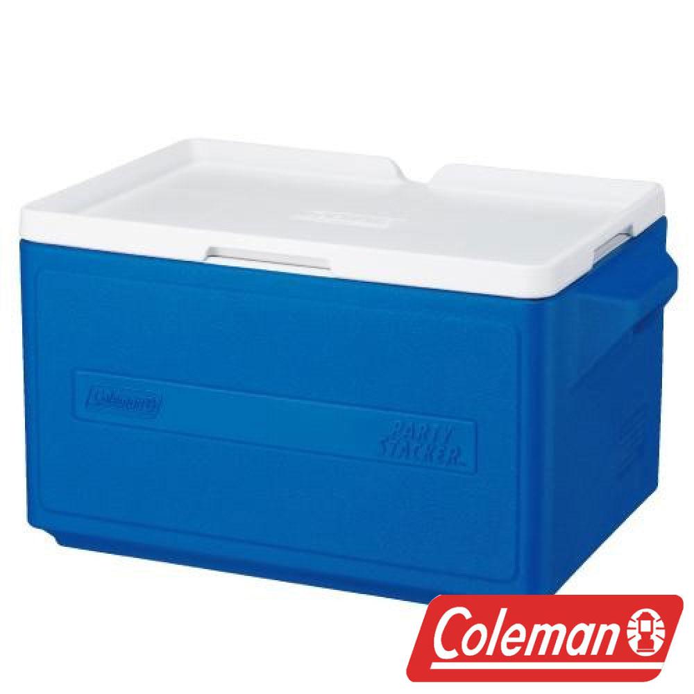 【美國Coleman】 31L置物型冰桶-藍 CM-1330J 露營 冰桶 保冷 保溫 保冰