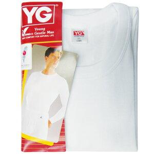 YG 羅紋長袖圓領衫YP500 XL 白