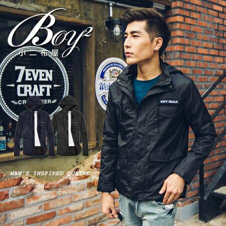☆BOY-2☆【KKL9063】軍裝連帽風衣外套