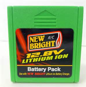 1 x 12.8 Volts Lithium Battery Pack Green for New Bright 1:12 R/C F/F Pro Wolf - 81210 0
