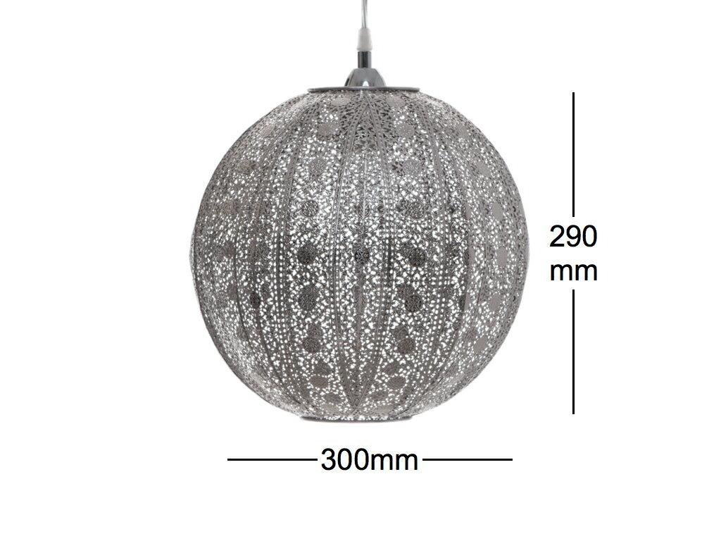 亮鎳蕾絲花邊圓形吊燈-BNL00076 3